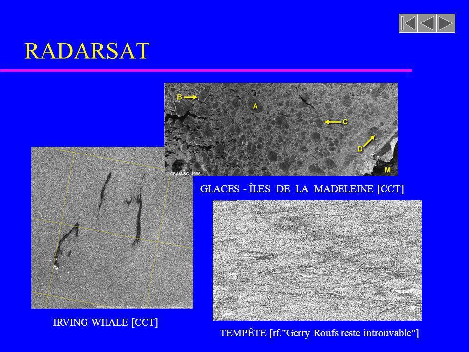RADARSAT GLACES - ÎLES DE LA MADELEINE [CCT] DÉTECTION DE BATEAU [CCT]